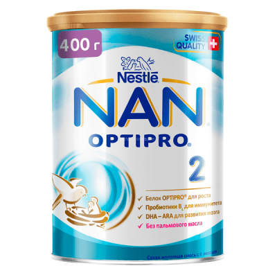 Молочная смесь NAN (Nestle) 2 Optipro (с 6 месяцев) 400 гр